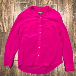 Tommy Bahama Pink Button Down Blouse Size S/P